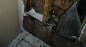 Water Damage Restoration Of Closet Wall