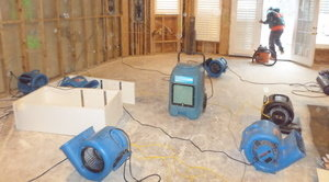 Water Damage Restoration In A Flooded Home