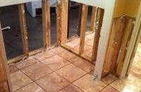 Water Damage Restoration On First Floor Bathroom