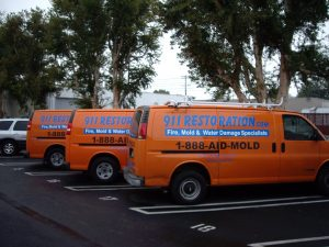 911-restoration-vans-parking